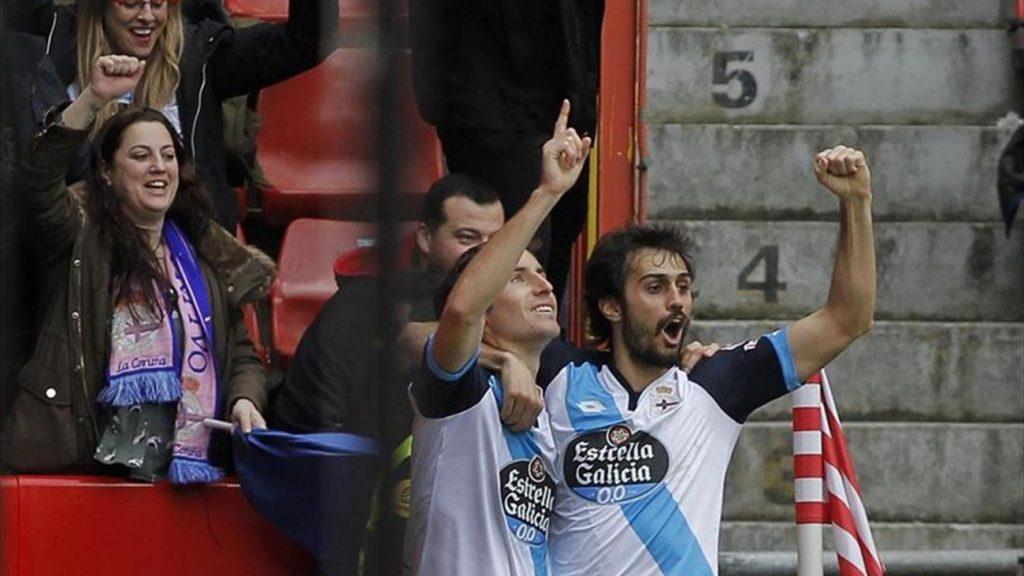 0-1. El Deportivo deja al Sporting a un paso del descenso