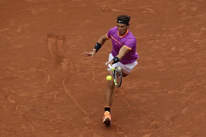 Rafa Nadal en octavos de final en el abierto de Barcelona.