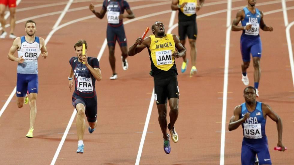 Usain Bolt se lesiona en la final 4×400 en el Mundial de atletismo
