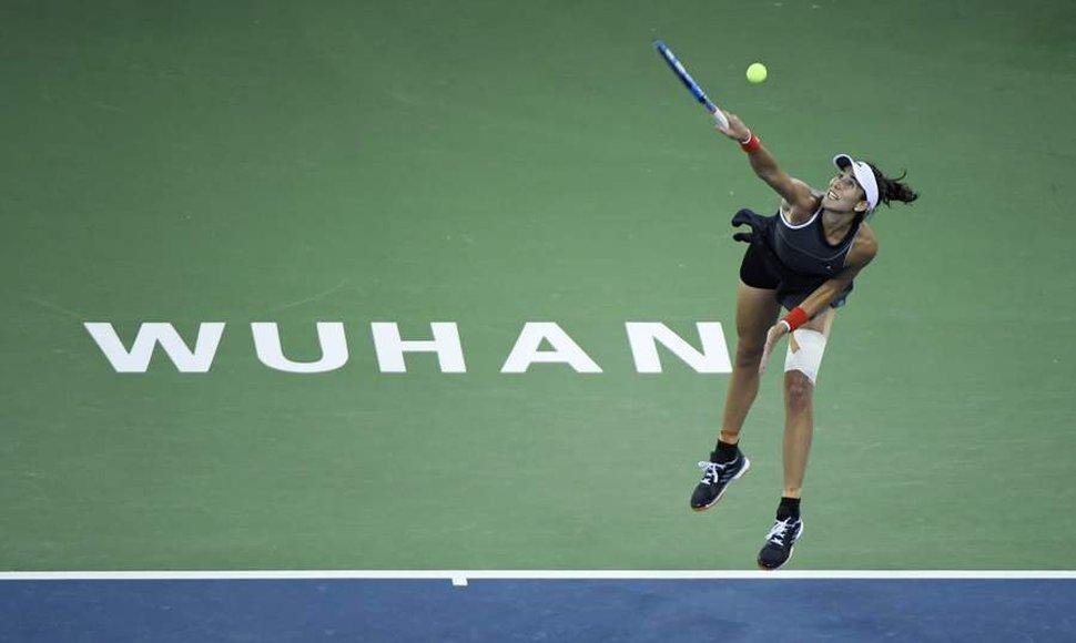 Garbiñe Muguruza ya está en cuartos de final en Wuhan olvidándose de Tokyo