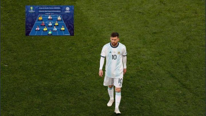El gran ausente del once ideal de copa América… Messi