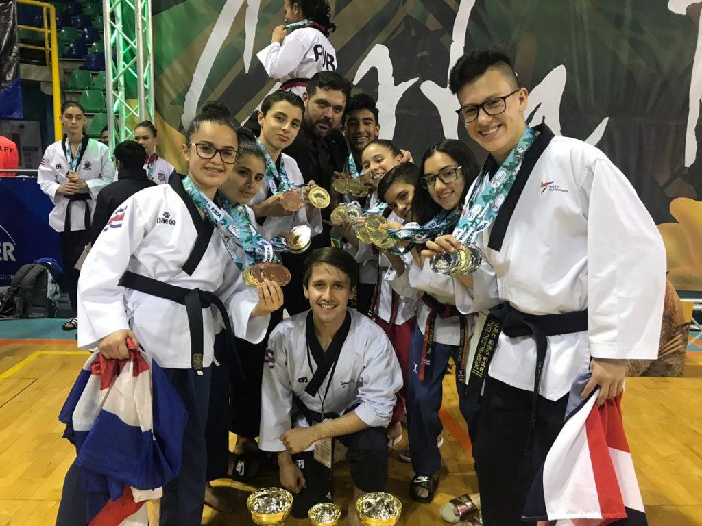 Costa Rica supera con creces cosecha de medallas en el Poomsae