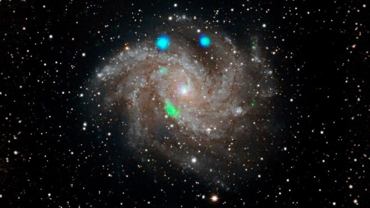 Detectan misteriosa luz verde con satélite de NASA