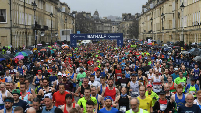En medio de la pandemia en Inglaterra se corrió un medio maratón