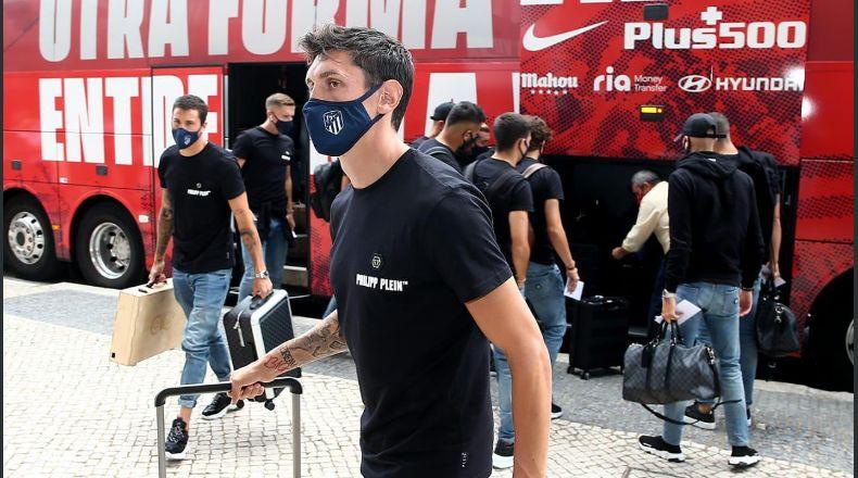 Ya está en Lisboa el Atlético de Madrid