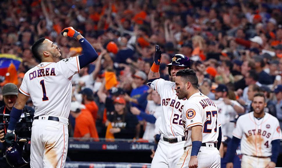 Guerra de batazos ganada por los Astros de Houston 13×12 a los Dodgers pone adelante en la serie a Astros 3/2