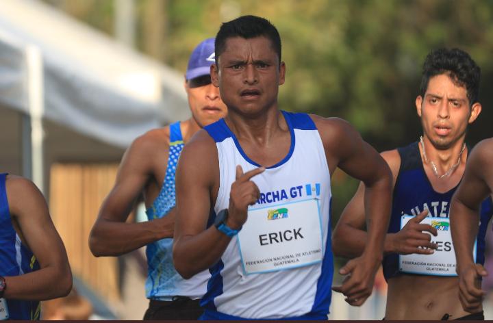 Erick Barrondo se deja el primer lugar en los 35 km en el Campeonato Nacional de Marcha 2021 realizado en Guatemala
