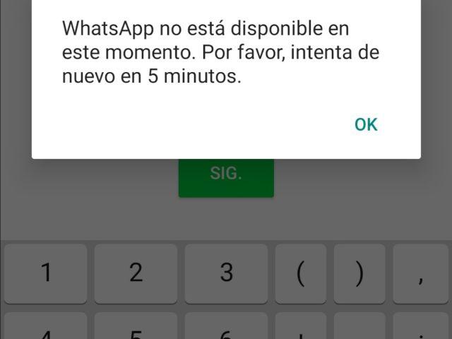 WhatsApp registró caída en su servicio
