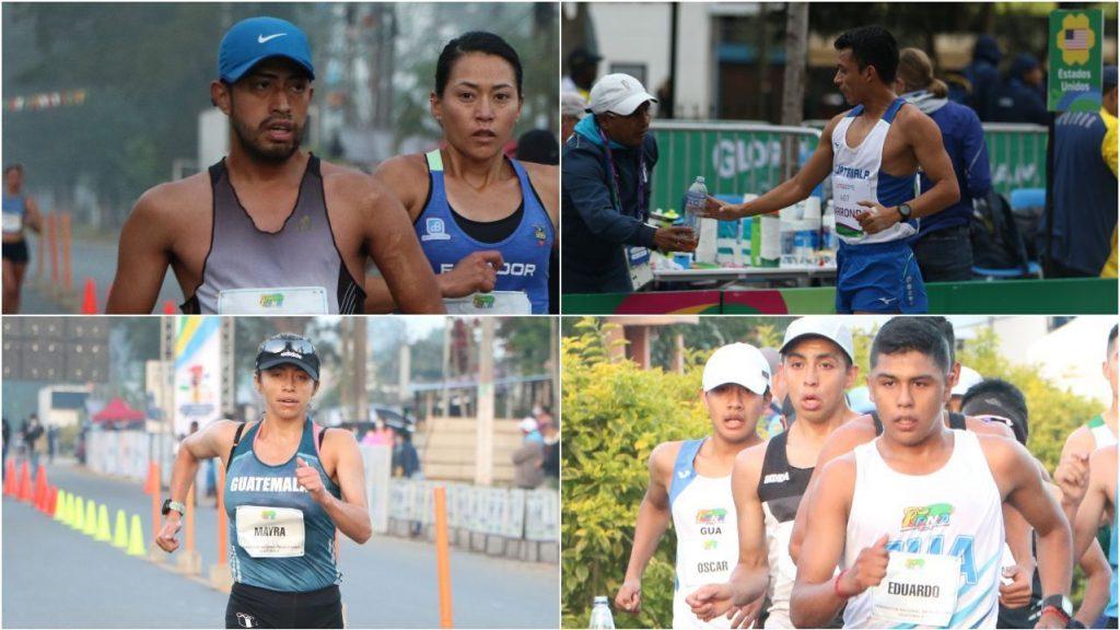 La marcha atlética Guatemalteca logró clasificar a 4 atletas hoy para las olimpiadas de Tokio 2021